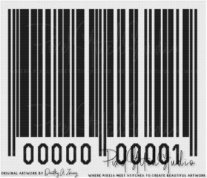 Generic Barcode Cross Stitch Pattern - Unframed