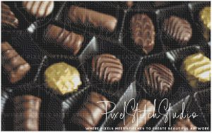 Box of Chocolates Cross Stitch Pattern - Unframed